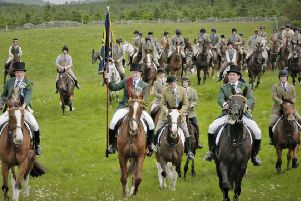 2018 Hawick Cornet Gareth Renwick leads the way on common riding Friday. Picture: Magic B/BBC.