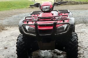 A Honda 500 quad bike like one of the ones stolen.