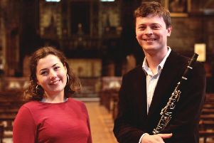 Splendid young duo Calum Robertson and Sally Carr perform for Hawick Music Club on Saturday, March 23.