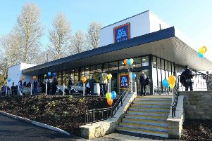 Hawick's Aldi store in Commercial Road.