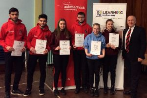 The Leaders in Sport recipients with Mr Bill Duncan of I&K Motors