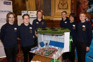 Meldrum Academy pupils at the Go4SET competition