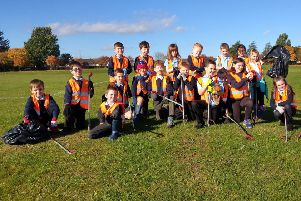 The youngsters enjoyed taking part in the litter pick