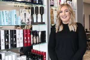 Senior stylist at Rebecca Carr Hair Salon in Kintore, Kelsey Catto
