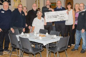 A cheque for �4,000 raised at this year's Stonehaven Harbour Festival was handed over to the Friends of the Stonehaven Open Air Pool