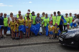 The beach clean was the first held by Stonehaven Rotary Club
