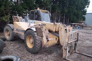 A Caterpillar Telehandler similar to the one stolen