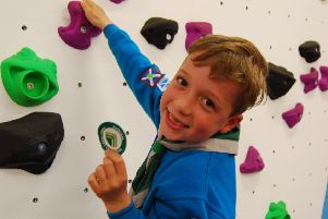 Scaling the heights - Beaver Scout Ethan Brooks