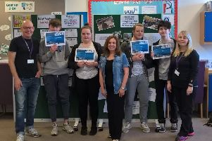 Some of the organisers of and participants in this year's Gear Up 2 Go project at Portlethen Academy.