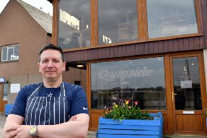 Ewen Lovie of the Quayside restaurant and fish bar in Gourdon