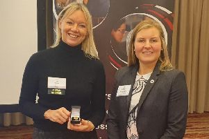 Lisa Bruce, left, a director at Acumen Accountants and Advisors, with Angela Kinghorn
