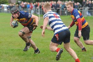 Lenzie on the attack against Strathendrick (pic by Jamie Forbes).
