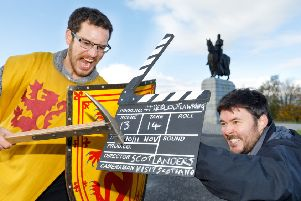 On the trail...#Scotlanders David Weinczok (left) and Neil Robertson will be following in the footsteps of Robert the Bruce this weekend, as they trace the king's real locations and those used in the new Netflix movie, Outlaw King.