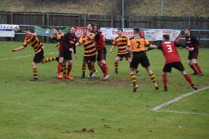 Action from Rob Roy's win over Kilbirnie