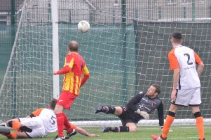 Stephen McGladrigan was on target in Rossvale's win over Whitletts (pic by HT Photography/@dibsy_)