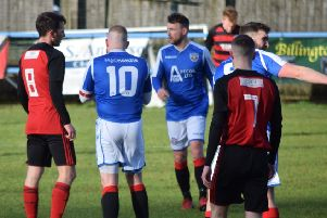 It was a frustrating day for Rob Roy against Irvine Meadow on Saturday. (Pic by Neil Anderson)