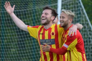 Chris Duff scored Rossvale's opener (library pic: HT Photography)