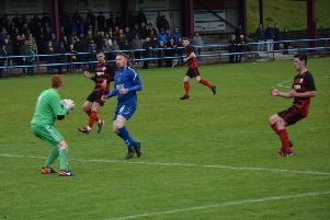 Action from Saturday's clash between Rob Roy and Auchinleck Talbot at Guy's Meadow