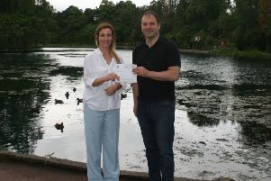 A £2,000 business boost for inspirational Crohn's charity