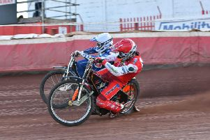 Action from Glasgow Tigers' win over Redcar Bears (pic by George Mutch)