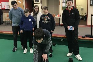 As well as  older members, the Allander Indoor Bowling Club also has a junior section, above