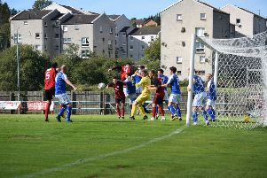 Rob Roy couldn't find a way through the Irvine Meadow defence (pic: Neil Anderson)