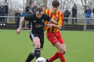 New Rossvale boss David Gormley in action against Vale for Pollok (archive pic: HT Photography/@dibsy_)