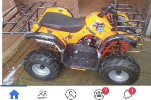 Heartless thieves pinch kids quad bikes from a back yard in Springburn.