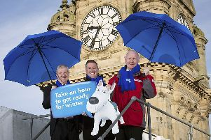 Transport Minister Keith Brown launches the Get Ready for Winter campaign.