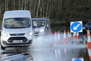 Drivers should avoid splashing pedestrians