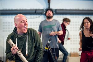 The cast rehearsing for This Restless House at the Citizens Theatre
