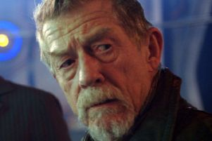 John Hurt in his role as 'the War Doctor' in a Doctor Who special episode.