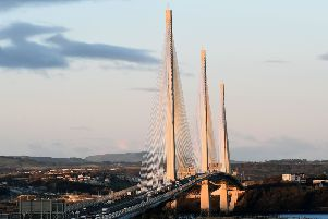 The collision happened south of the Queensferry Crossing on the M90 at junction 1A.