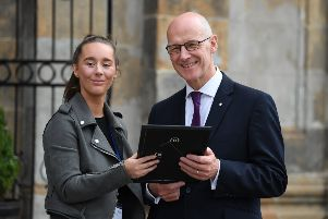 Ex Linlithgow Academy pupil has results delivery with a difference