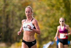Sarah Inglis on her way to individual bronze in British Columbia (pic courtesy of Paul Funk)