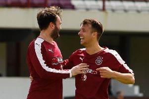 Tommy Coyne and Gary Thom both hit doubles for Linlithgow Rose against Stirling University