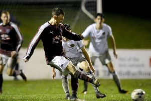 Roddy MacLennan in action for Linlithgow Rose