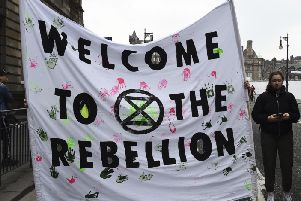 Linlithgow Academy pupils in Extinction Rebellion climate protest