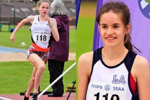 Isla and Sarah Calvert clinched two golds each at the Scottish Schools Athletics Championships (picture: Neil Renton)