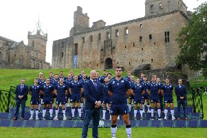 Head coach Gregor Townsend and his squad (Pic by Michael Gillen)
