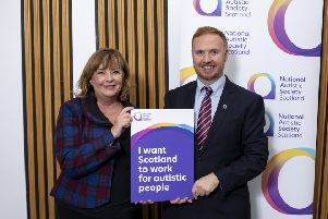 Linlithgow MSP Fiona Hyslop with Nick Ward, director of National Autistic Society Scotland. Pic: Martin Shields
