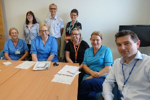 The orthopaedic team at NHS Forth Valley.
