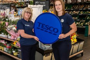 Tesco Community Champions Liz Cairns Jones and Gemma Morrison.