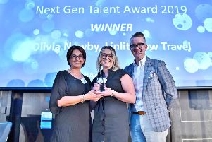 Olivia Newby from Linlithgow Travel won the Next Gen Talent Award at the Advantage Big Celebration Lunch 2019.