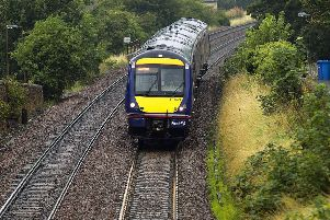 Stock picture of a First train approaching Linlithgow Station.  Image by: Malcolm McCurrach