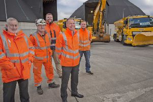 Cllr Tom Conn stands ready with WLCs gritting teams.