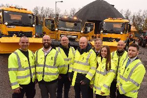 Falkirk Council, gritting team