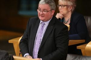 Falkirk East MSP Angus MacDonald in the Scottish Parliament chamber