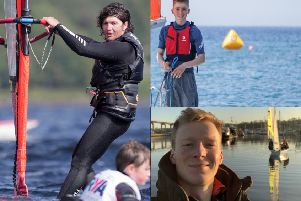 Port Edgar sailors (clockwise from left) Sami Poole, Dan MacGregor and Matthew Moorson.