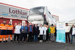 Members of Lothian and the Support In Mind Scotland charity join together for the announcement that Lothian will be supporting the charity for the next two years''In pic''(c) Wullie Marr Photography